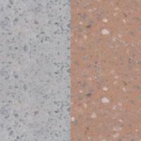 povrch bílo - šedý jemný vymývaný/terakota jemnývymývaný