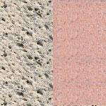 povrch bílo-šedý otryskávaný/terakota otryskávaný